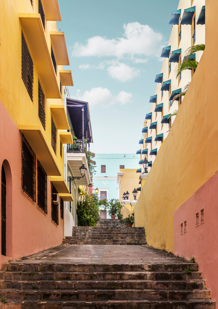 beautiful and colorful view of vacation condos in ponce puerto rico