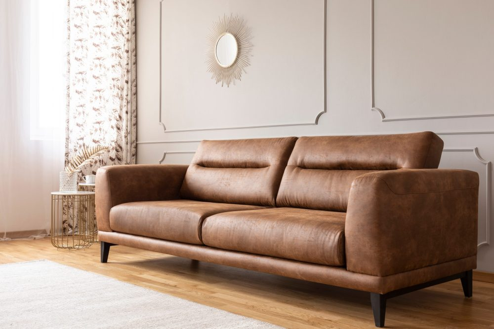 how to store leather furniture in a storage unit