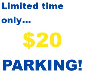 Select Parking Spots Only. Restrictions Apply